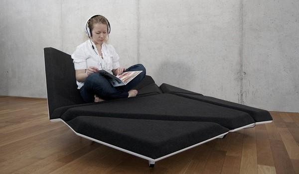 Cay Sofa 2 Shape shifting Origami like sofa design from Alexander Rehn