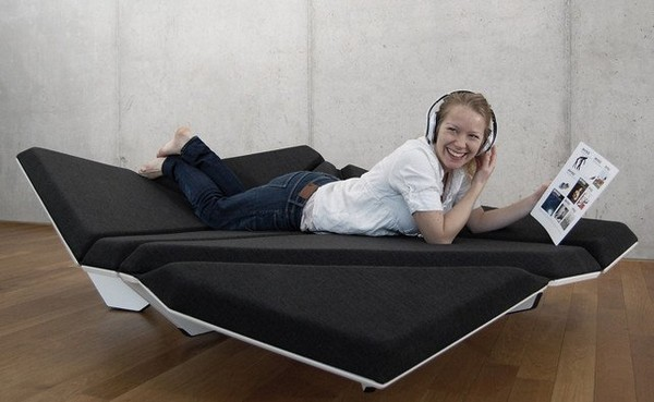 Shape-shifting Origami-like sofa design from Alexander Rehn