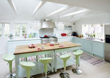 Dream kitchen brightened with a pastel color palette