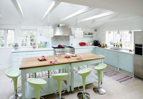 Dream Kitchen Dream kitchen brightened with a pastel color palette