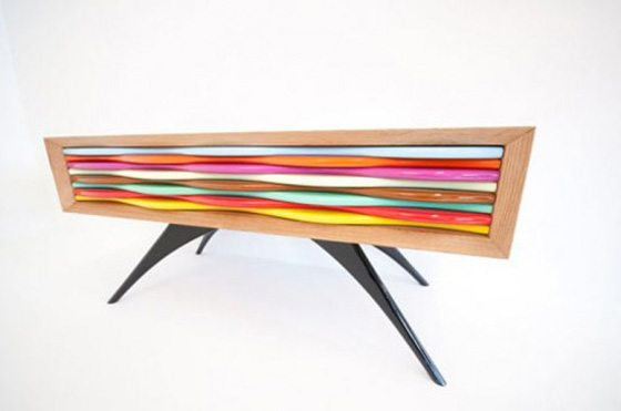 Edna 1 2 Edna Sideboard collection: vividly coloured and hand manufactured