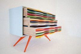 Edna Sideboard collection: vividly coloured and hand-manufactured