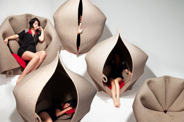 Freyja Sewell Hush Felt Pod Step inside a world of comfort: the Hush Pod