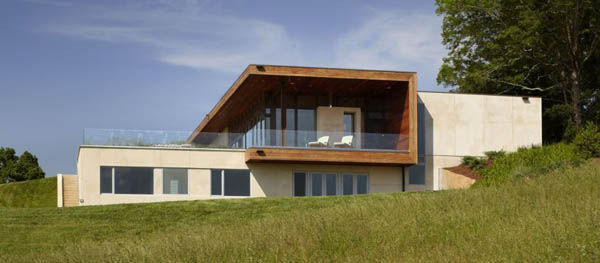 Leicester House Modern residence adorning a rural landscape: Leicester House