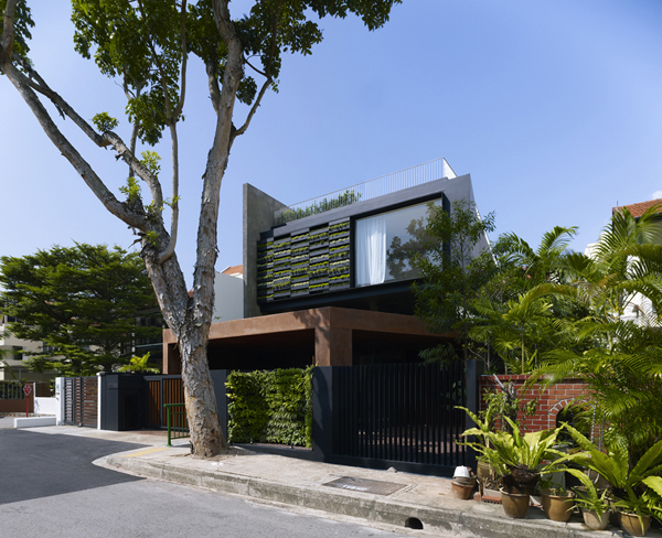 Vertical gardens and inclined roof terraces maximum for Terrace house singapore