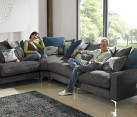 Pentagon Cushion Back Corner Sofa