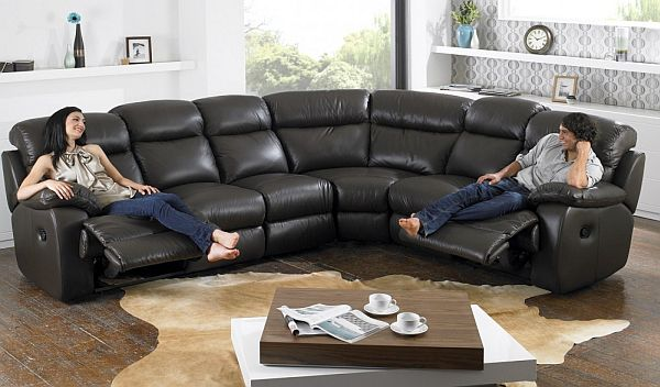 Superior Leather Corner Sofa