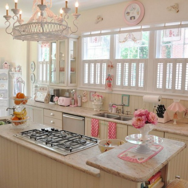 Girly Kitchen Decor: Vintage, Yet Romantic, Kitchen To Suit Your Taste