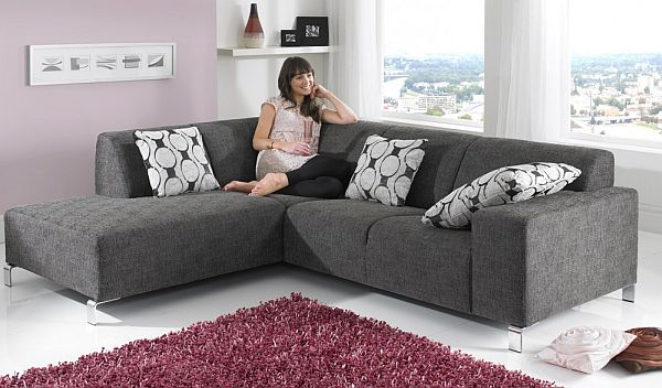 7 modern l shaped sofa designs for your living room for Sofa designs for drawing room