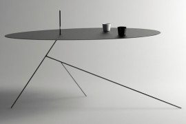 Surprisingly thin table design: Chiuet Table by Design Jay