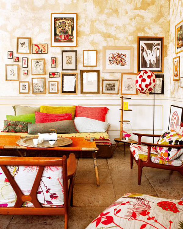 colorful apartment in france Vividly colored chic apartment in Nimes, France
