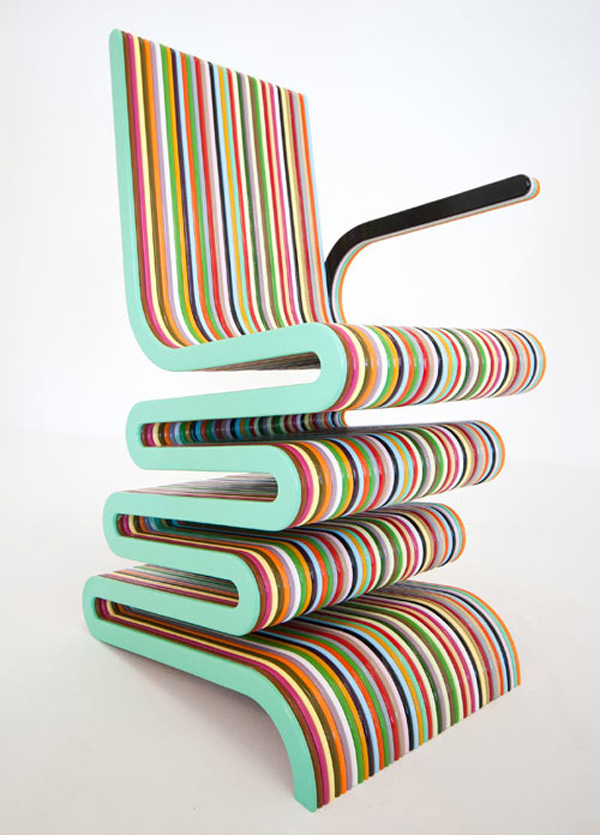 mr smith chair 1 Colored and glossy Mr Smith the Second Chair by Anthony Hartley