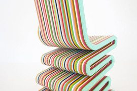 Colored and glossy Mr Smith the Second Chair by Anthony Hartley