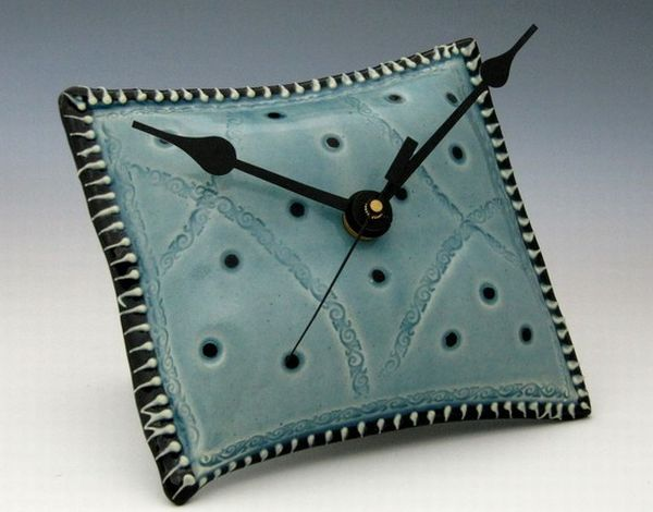 pillow shaped ceramic wall clock Awesome pillow shaped ceramic wall clock