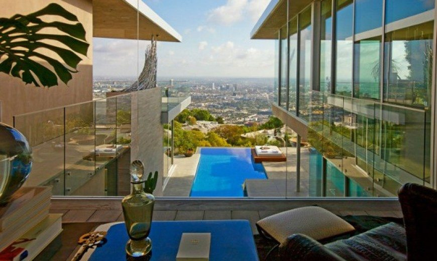 Blue Jay Way Residence is a House Designed around a Pool