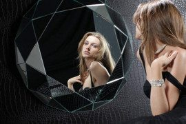Unique Geometric Wall Mirror from Regia