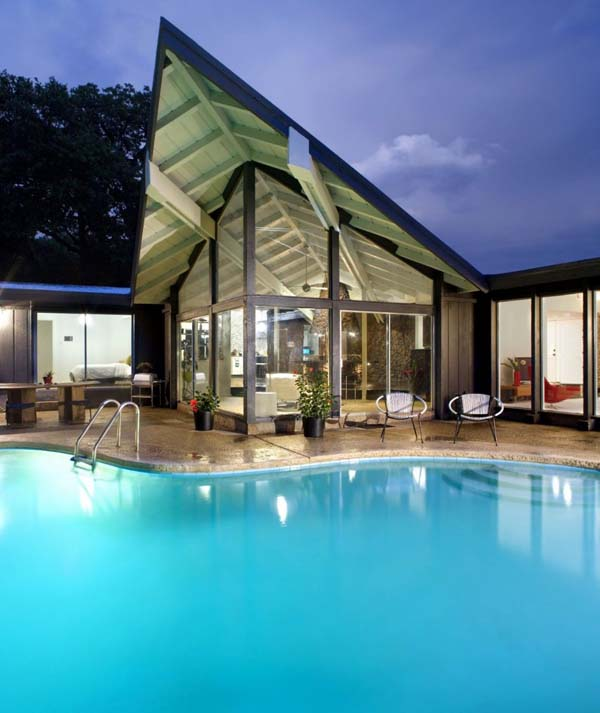 Lake Moore Remodeled mid century modern home for sale in Austin, Texas