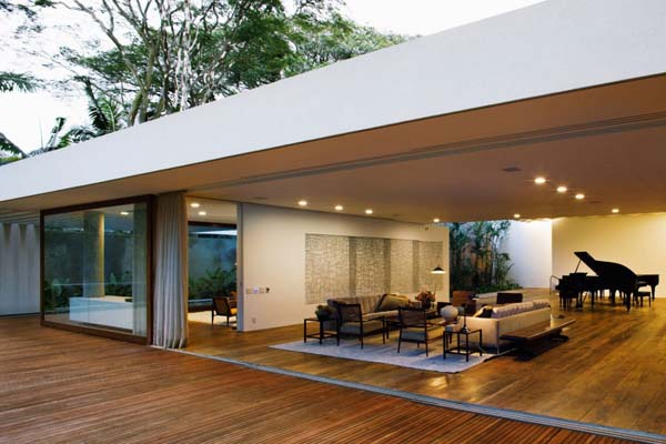 Music Meets Nature Santa Amaro House by Isay Weinfeld 3 Music Sets the Tone Here