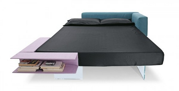 Seemingly Floating Bed with Book Storage Space by Lago 1 Floating Bed Has an Out of this World Design