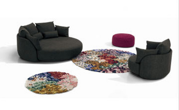 The Missoni Home Round Tiamat 200 Sofa 2 Sit Pretty on Tiamat 200