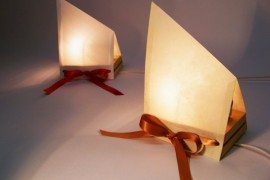 Minimal Paper Accent Lamps from Fine Art Printing Paper