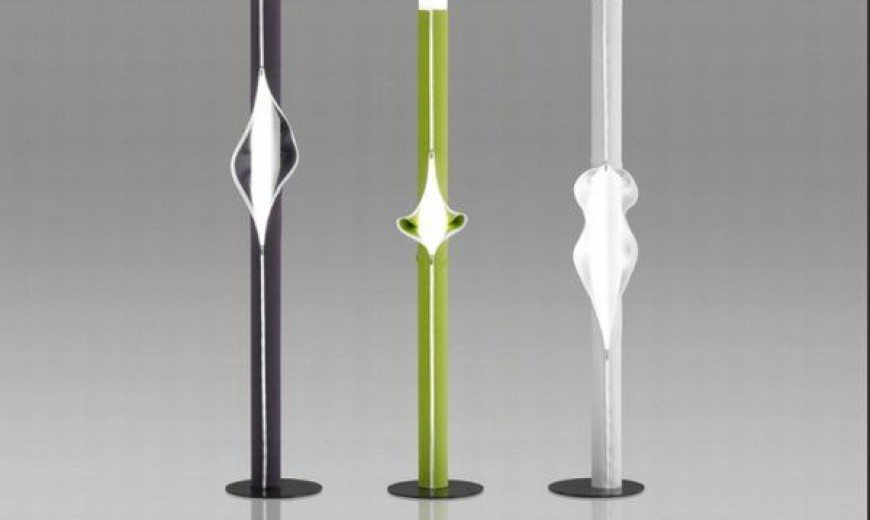Monochromatic zipped up lamps from Victor Boeda: Cache-Cache lamp