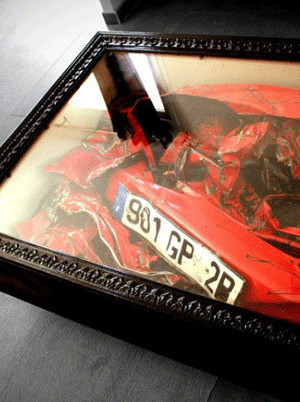 Crashed Ferrari Coffee Table 1