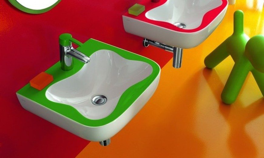 Playful and Colourful Bathroom Exclusively For Children by Laufen