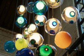 Amazing Glass Ball Chandeliers Add to Bocci's Credibility