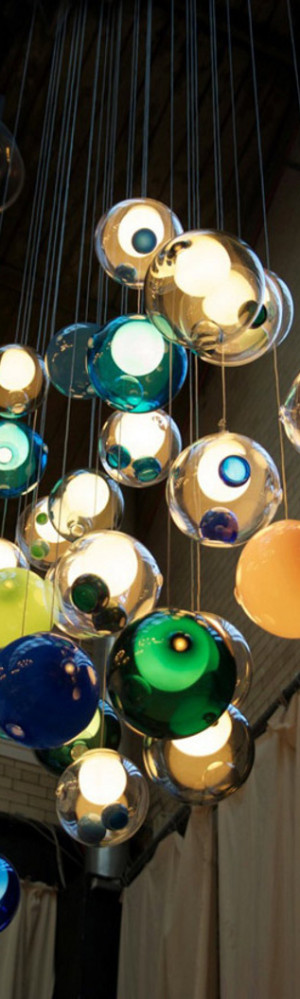 Glass Ball Chandeliers by Bocci 1