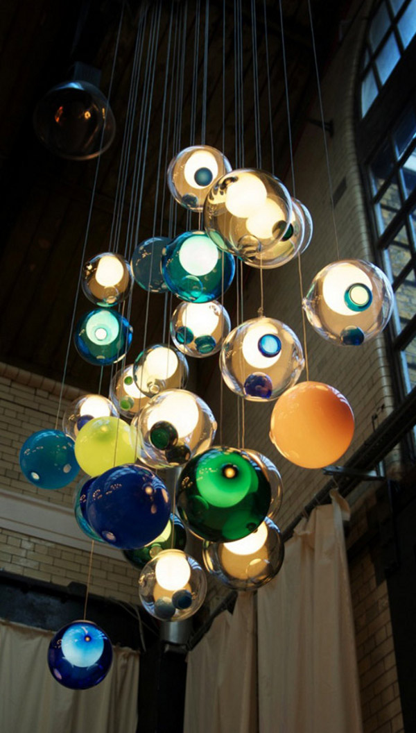 Glass Ball Chandeliers by Bocci 1 Amazing Glass Ball Chandeliers Add to Bocci's Credibility