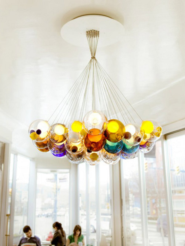 Amazing Glass Ball Chandeliers Add to Boccis Credibility – Chandelier Glass Balls
