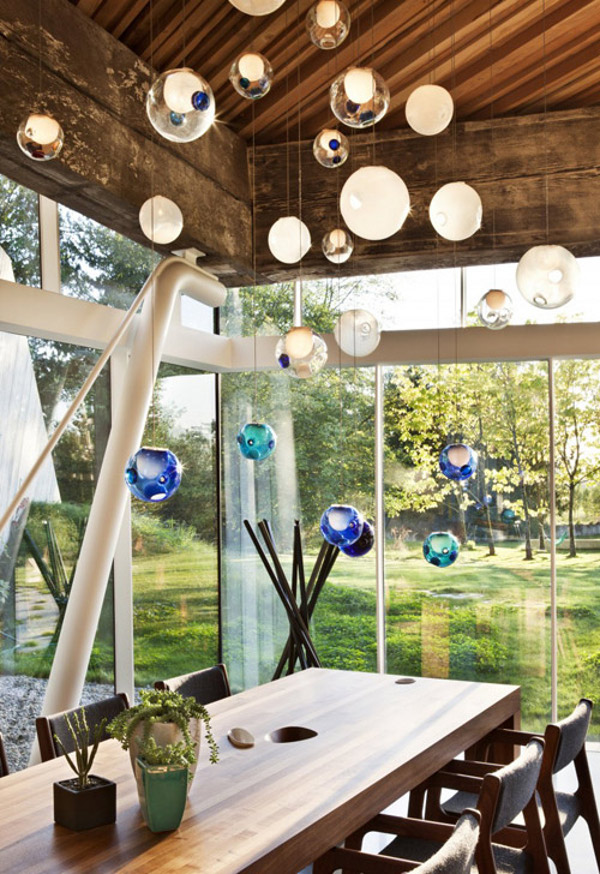 Glass Ball Chandeliers by Bocci 4
