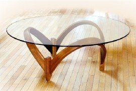 Artistic coffee tables by Larry and Nancy Buechley