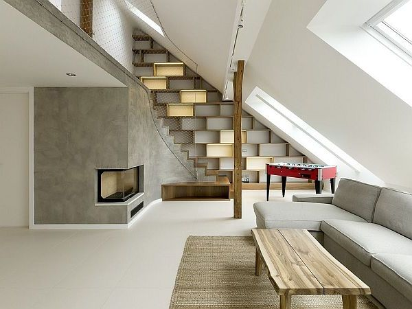 attic loft light switch ideas - Loft in The Attic in Prague
