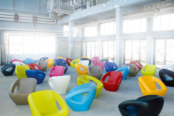 Modern Polyethylene Chairs by Lonc 1