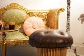 Fun and playful Muffin Pouffe designed by Matteo Bianchi