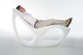 Minimalist round cornered Odyssey Lounge Chair