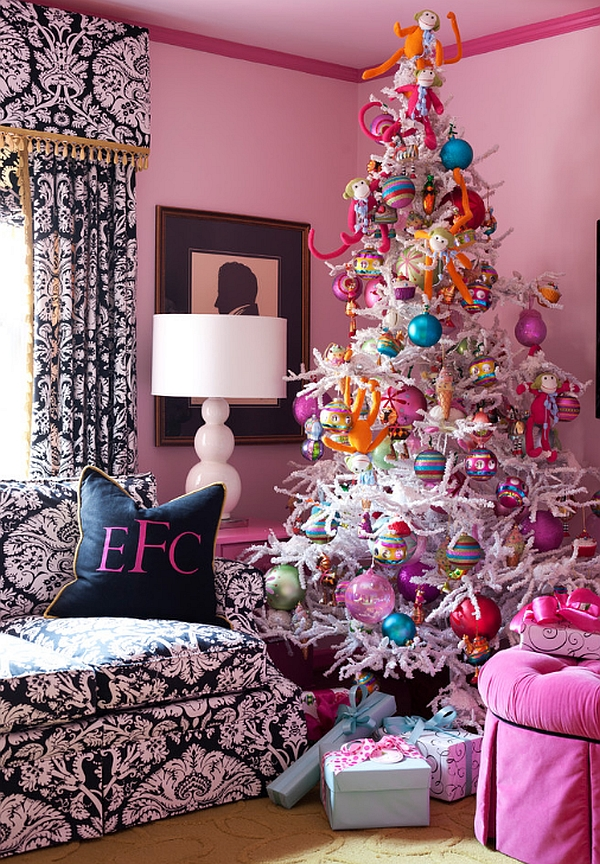 view in gallery pink and blue christmas tree decorations - Colorful Christmas Tree Decorations