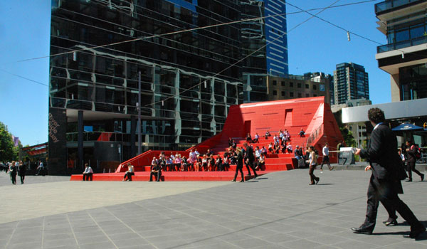 Red Stair by Marcus OReilly Architects 1 Amazing Red Stair and Vent Sculpture in the Middle ofMelbourne