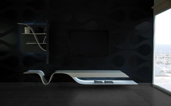 TV Unit With a Futuristic Design by Erhan Afsaroglu 1