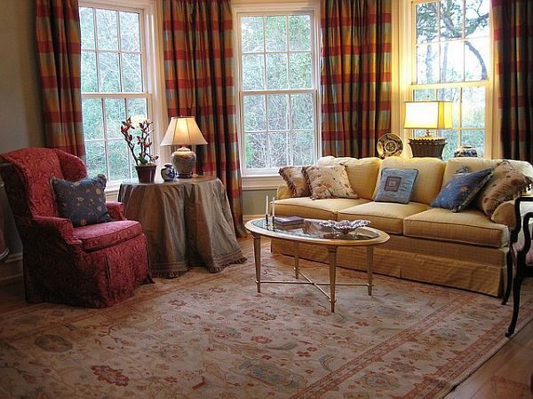Usher in old world charm with traditional living room for Traditional living room