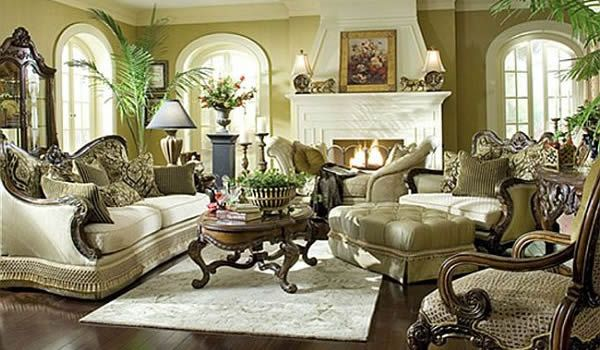 Traditional living room furniture 3 decoist for Classic living room furniture