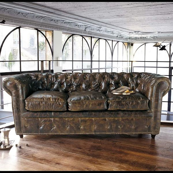 vintage style leather sofas could add to the retro look. Black Bedroom Furniture Sets. Home Design Ideas