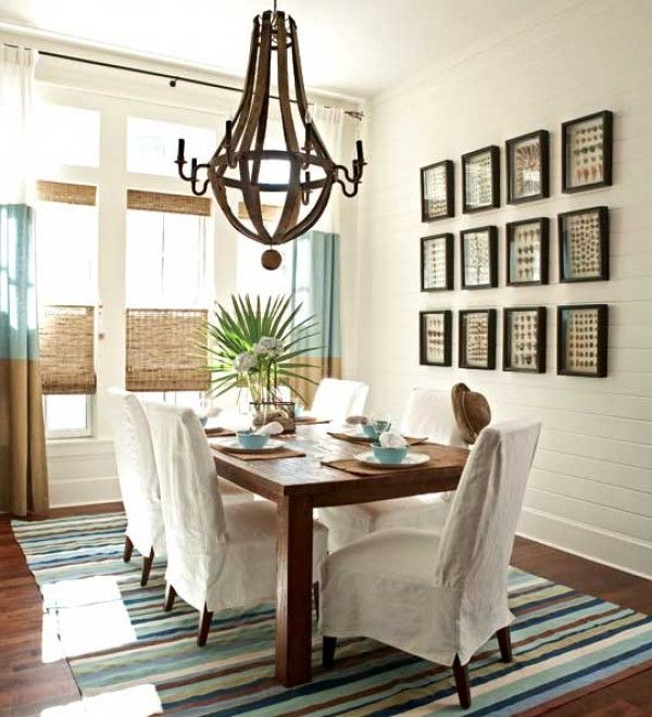 Casual dining rooms decorating ideas for a soothing interior for Decorating ideas large dining room wall