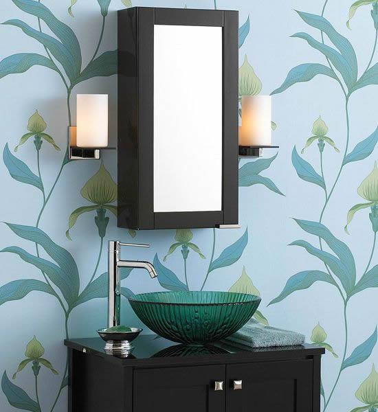 flowery bathroom