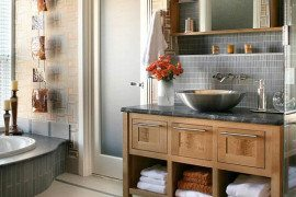 10 Stylish Colored Bathrooms: Modern, Sleek Combinations