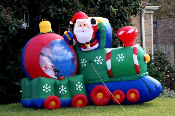 inflatable train outdoor christmas decorations Outdoor Inflatable Decorations for the Christmas Season