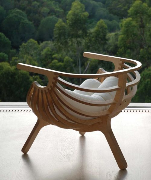 unique plywood chair branca 1 Elegant Plywood Chair from Branca