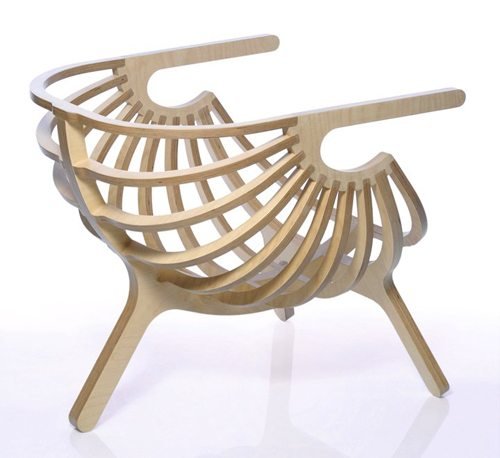unique plywood chair branca 3 Elegant Plywood Chair from Branca